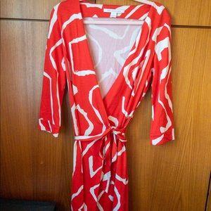 Diane von Furstenberg Dk Orange 100% Silk Wrap